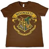 HARRY POTTER Oficialmente Licenciado Hogwarts Crest Unisexo Niños Camiseta Siglos 3-12 Años