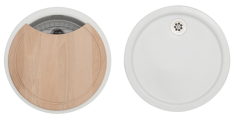 Rieber emailliert Küchenspüle Set E 39, weiß, 72014003: Amazon.de ... | {Spülbecken rund emaille 88}