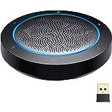 GOGOCOOL Altoparlante Bluetooth, altoparlante per conferenza con riduzione del rumore, 4 microfoni, connessione USB/dongle/Bl