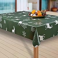 laro Wachstuch-Tischdecke Weihnachten Weihnachts-Motive PVC Wachstischdecke Eckig Meterware Wasserabweisend Abwischbar…