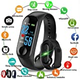 SHOPTOSHOP SM3 Smart Band Fitness Tracker Watch Heart Rate with Activity Tracker Waterproof Body Functions Like Steps Counter