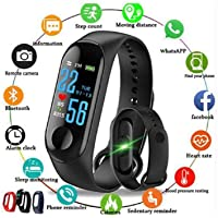 yajk M3 Smart Band Fitness Tracker Watch Heart Rate with Activity Tracker Waterproof Body Functions Like Steps Counter