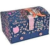 Depesche TOPModel Leo Love 11329 – Boîte à bijoux avec code et son, avec motif animal violet, env. 15,7 x 20 x 12,5 cm, avec