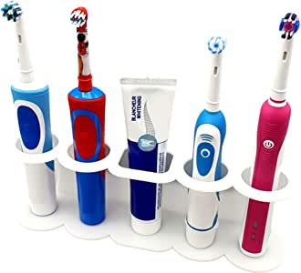 SmartProduct Electric Toothbrush Holder, Self Adhesive Holder Wall Mounted, Tooth Brush Stand Organizer for Bathroom, Model C