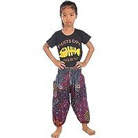 Lofbaz Bébé Garçon Bébé Boho Harem Pantalons Aladdin été Combinaison Éléphant Paon Floral