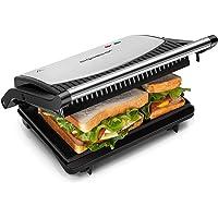 Aigostar York – Appareil grill, paninis, sándwichs 0% BPA de 750W. Ouverture à 180º pour deux superficies de cuisson…