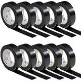 AUPROTEC 10 rollen VDE isolatietape isolatietape elektriciens plakband PVC 15 mm x 10 m DIN EN 60454-3-1 Kleur: zwart