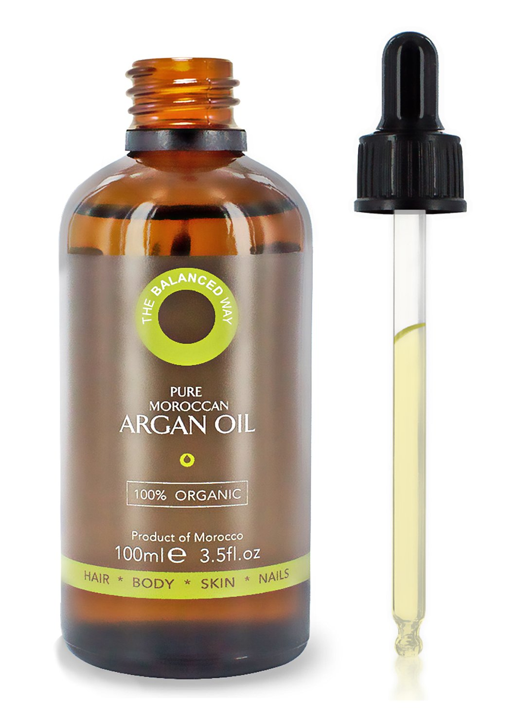 100% Moroccan Argan Oil Nourishing and Repairing Treatment For Dry ... 744a493063c0