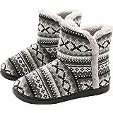GILKUO Pantofole a Stivaletto Donna Calde Peluche Invernali Pantofole da Casa Antiscivolo