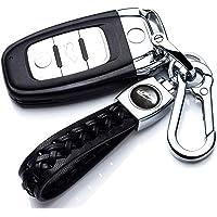 Spurtar - Portachiavi in vera pelle per auto, universale, adatto per Adui BMW, Ford Chevrolet Dodge Toyota Nissan…