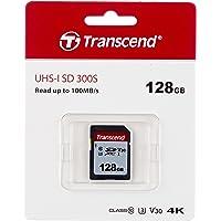 Transcend Highspeed 128GB SDXC Speicherkarte (für Digitalkameras / Photo Box / alltägliche Aufnahmen & Videos…