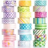 YUBBAEX Washi Tape Pastello nastro decorativo per fai da te, artigianato, confezioni regalo, accessori per scrapbooking (mini