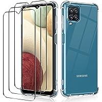 iVoler Custodia Cover per Samsung Galaxy A12 / M12 + 3 Pezzi Pellicola Protettiva in Vetro Temperato, Ultra Sottile…