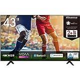 Hisense 43AE7000F 108cm (43 Zoll) Fernseher (4K Ultra HD, HDR, Triple Tuner DVB-C/ S/ S2/ T/ T2, Smart-TV, Frameless, Bluetoo