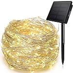 Ankway Solar String Lights 200 LED 72ft Outdoor Garden Fairy Lights Warm White