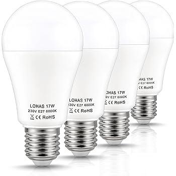 LOHAS® 17W E27 LED Lampen, Ersatz für 150W Glühlampen, 1600LM ...