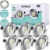 Wowatt Spot Encastrable LED Blanc Froid 6000K 6W Equivalente de 50W Ampoule halogèn Spots LED Encastré GU10 600lm Lampe Plafo