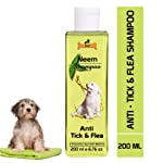 Dogz & Dudez Dog Shampoo Anti Tick & Flea | Organic Natural Neem & Lemongrass ● Anti Itching, Insect Repellent ● 200 ml...