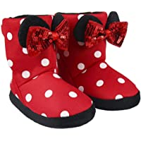 Disney Minnie Mouse Slippers for Girls, Girls Slippers, Soft Plush Warm Cosy Slippers, Super Fun 3D Indoor House Shoes…