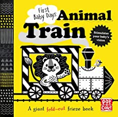 Animal Train: A high-contrast, fold-out board book (First Baby Days)
