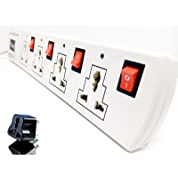 Grahini 6A 4 Socket with 4 Individual Switches with Indicator Extension Board | Power Extension Cord Surge Protector with 12 Feet Wire | Surge Protector & Spark Suppressor (EXN02)
