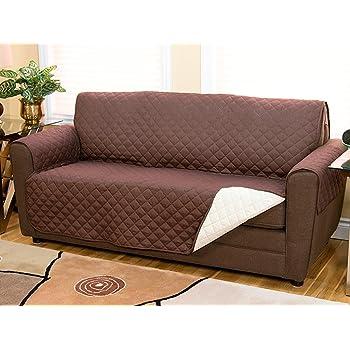 Copridivano 2 posti divano con braccioli e senza braccioli anche per divani relax tortora - Copridivano per divano relax ...