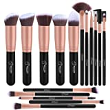 Pennelli Make Up BESTOPE Pennelli per il Trucco Set di 16 Pennelli per il Make-up Professionali, Eyeliner, Ombretto, Sopracci
