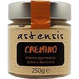 ASTENSIS Crema Spalmabile Gusto Cremino Con Latte e Nocciole Artigianale - 250 Grammi - Senza Glutine - Adatta Per Dolci…
