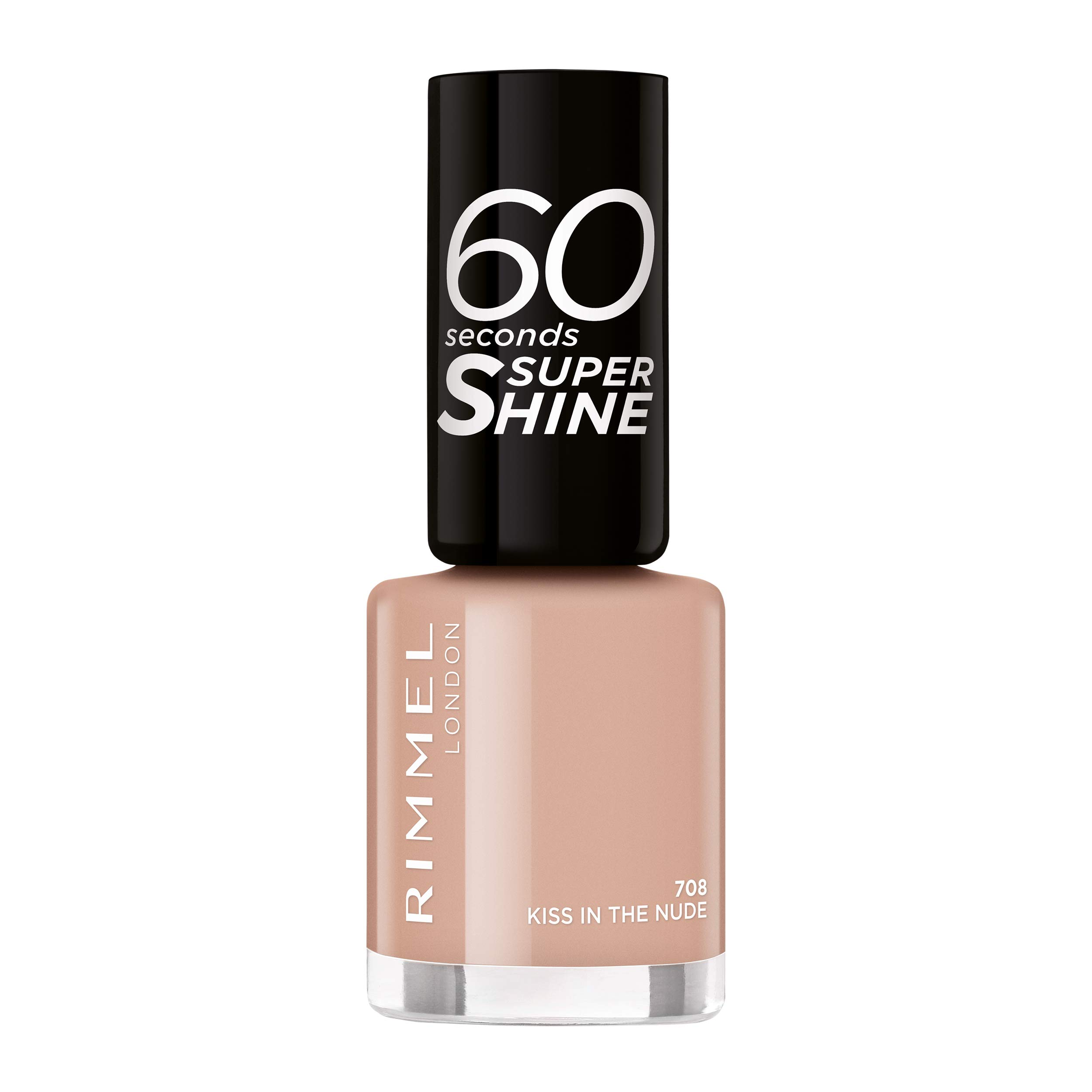 Rimmel London 60 Seconds Super Shine #708-Kiss in The Nude – 1 unidad