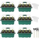 Ulikey Bandejas Semilleros de Germinacion, Invernadero Semillero Germinador Kit con Etiquetas Herramienta de Plantación y Tra