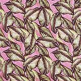 Fabulous Fabrics Halb Panama Dekostoff Palma - grün/Purpur