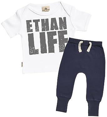 Sr personalised name life baby t shirt navy joggers outfit set sr personalised name life baby t shirt navy joggers outfit set amazon clothing negle Choice Image