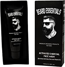 Beard Essentials Activated Charcoal Face Wash For Men - 100ml