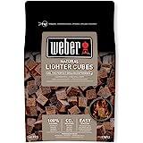 Weber 17612 - Cubetti accendifuoco 48 pastiglie sul marrone