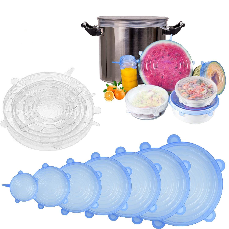 sicuri nel congelatore per lavastoviglie a microonde Coperchi per alimenti elastici riutilizzabili