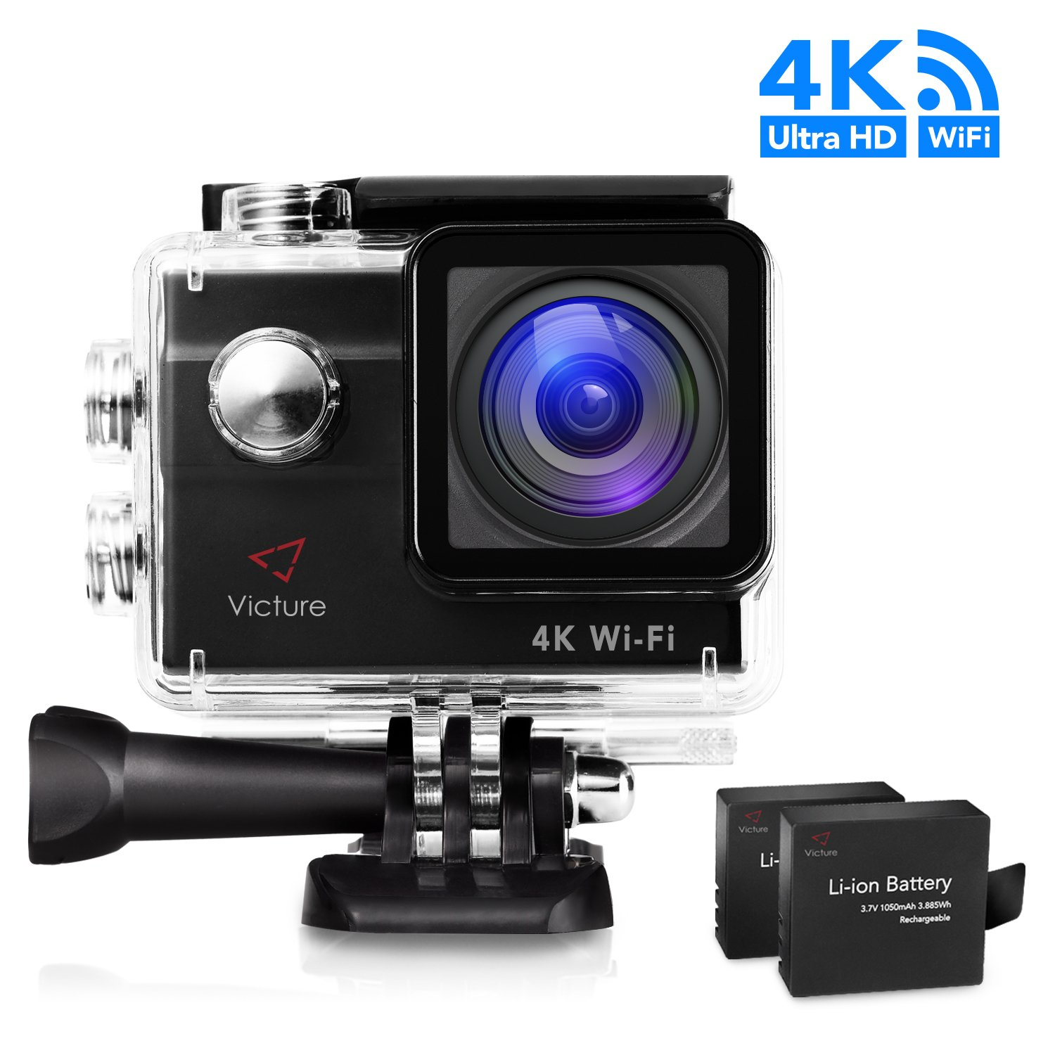 victure underwater action camera 4k wifi ultra hd 20mp. Black Bedroom Furniture Sets. Home Design Ideas