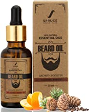 Spruce Shave Club Beard Growth Oil For Men -100% Natural - Pure Essential Oils - 30ml (Cedarwood & Mandarin)