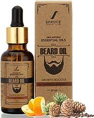 Spruce Shave Club Beard Growth Oil For Men -100% Natural - Pure Essential Oils - 30ml (Cedarwood & Mandarin)