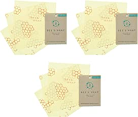 Bee's Wrap Sustainable Reusable Food Storage Set of 9 Small Wraps