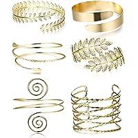 JeweBella 6 Pièces Bracelet Bras Femme Bracelet de Manchette du Bras Supérieur pour Les Femmes Bracelet Ouvert Brassard…