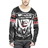trueprodigy Casual Mens Clothes Funny and Cool Designer Long Sleeve T-Shirt for Men with Design Crew Neck Slim Fit Long Sleev