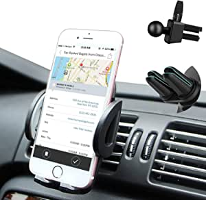 Rwest X Mobile Phone Holder Car Smartphone Holder Car Mobile Phone Holder For Iphone Samsung Htc Lg Huawei And Any Other Smartphone Or Gps Device With Two Clip Accessories Elektronik