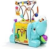 TOP BRIGHT Cubo Multiattività Bambini - Giochi in Legno per Bambini 1 Anno – Cubo Interattivo per Bimbi e Bimbe – Gioco Educa
