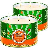 Aottom Citronella Kerze Outdoor groß, 2 x 400g Outdoor Kerzen Natürliche Sojawachs Zitronella Kerze Garten mit 3 Docht…