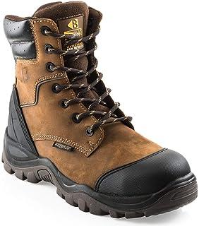 Buckler BSH009BR Buckshot Dark Brown Lace Work Safety Boots