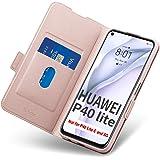 Fodral Huawei P40 Lite, Fall Huawei P40 Lite, Mobilskal Huawei P40 Lite med Korthållare, Hülle/Handyhülle/Schutzhülle-Fullstä