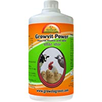 Growel Growvit Power Cattle, Poultry and Bird Vitamin Supplements of 10 Essential Vitamins -100ml