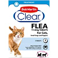 Bob Martin Clear | Cat Flea Tablets, also Suitable for Small Dogs & Puppies (1-11 Kg) | Effective Treatment, Kills 100…