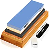 Whetstone Sharpening Stone Kit Dual Sided 1000/6000 Grit Professional Whetstone Knife Sharpener Stone Wet Stone Set Nonslip B