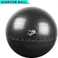 BFIT Exercise Printed Non-Slip Gym Ball (55-85 cm, Black)